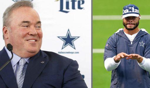 Dallas Cowboys Coach McCarthy And Dak Prescott