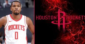 Sterling Brown With Rockets Background