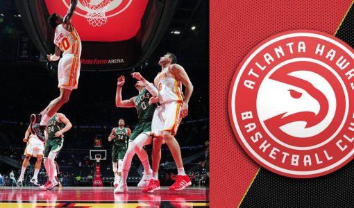 Atlanta Hawks With Hawks Background