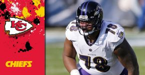 Orlando Brown With Chiefs Background