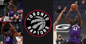 Raptors Vs Warriors With Raptors Background