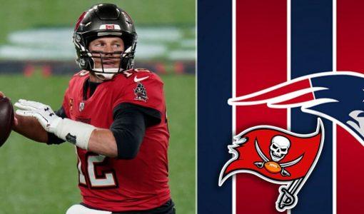 Tom Brady Buccaneers Patriots Backdrop