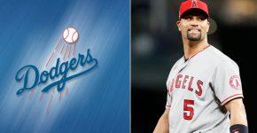Albert Pujols With Dodgers Background
