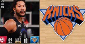Derrick Rose Knicks Vs Hawks Background