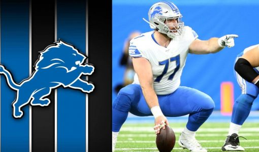 Frank Ragnow With Detroit Lions Background
