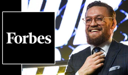 Conor McGregor With Forbes Logo