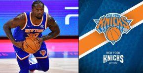 Julius Randle With NY Knicks Background