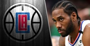 Kawhi Leonard With Clippers Background