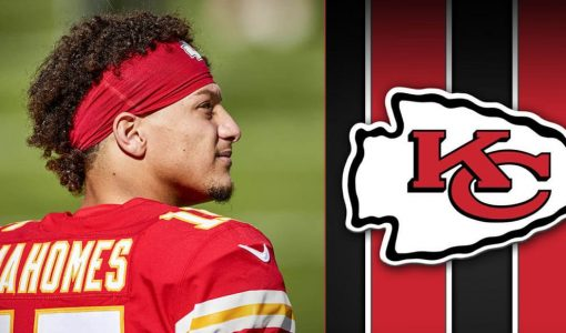 Mahomes With KC Chiefs Background