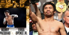 Manny Pacuiao And Errol Spence Jr Background