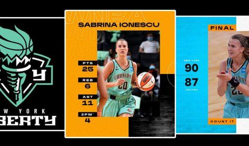 Sabrina Ionescu WNBA NY Liberty