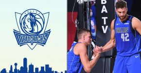Kristaps Porzingis And Maxi Kleber Mavericks Background