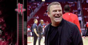 Tilman Fertittas With Houston Rockets Background