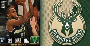 Series Tied Bucks Vs Nets With Khris Middleton
