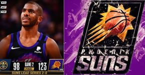 Suns Lead Series Vs Nuggets With Phoenix Suns Background