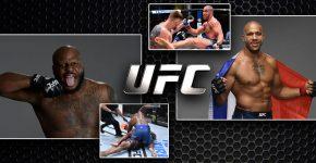 Derrick Lewis Vs Cyril Gane With UFC Logo
