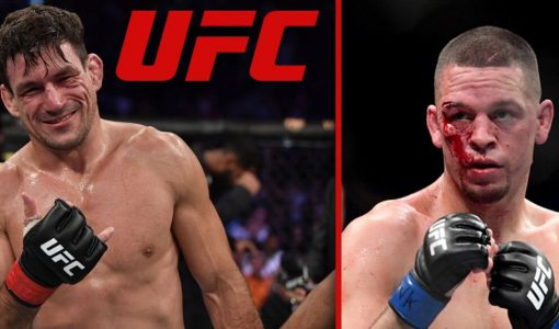 Demian Maia With UFC Logo And Nate Diaz