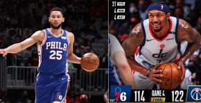Wizards Vs 76ers Ben Simmons And Brad Beal