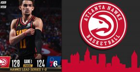Hawks Vs 76ers Playoffs With Hawks Background