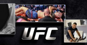 UFC Logo With Chris Weidman Injured And Recovery Training