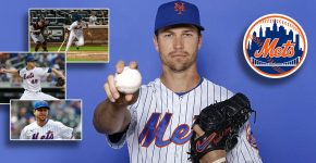 Jacob Degrom With Mets Logo MVP Potential