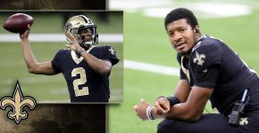 Jameis Winston With New Orleans Saints Background