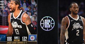 LA Clippers Lead Series Vs Utah Jazz 2 1