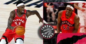 Pascal Siakam Shoulder Injury With Raptors Background