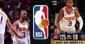 Suns Sweep Nuggets 4 0 Series