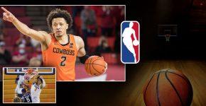 Cade Cunningham With NBA Logo