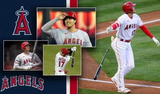 Shohei Ohtani With Los Angeles Angels Background