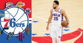 Ben Simmons And NBA Team Logos