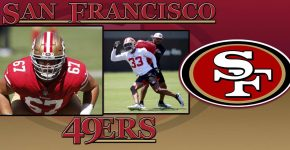 Justin Skule And Tarvarius Moore With 49ers Background