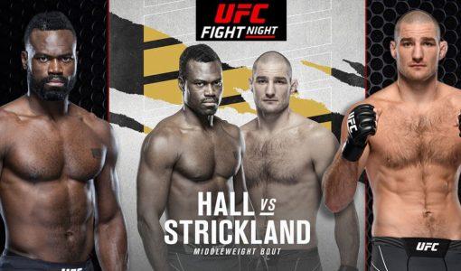 Uriah Hall Vs Sean Strickland UFC Fight Night