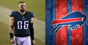 Zach Ertz With Buffalo Bills Background