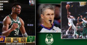 Suns Vs Bucks Game 3 Antetokounmpo Paul And Scott Foster