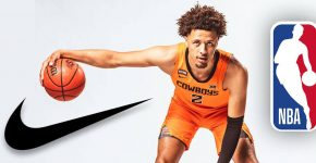 Cade Cunningham With NBA And Nike Logo