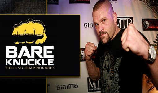 Chuck Liddel With Bare Knuckle Fighting Logo