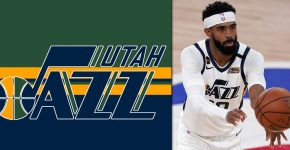 Mike Conley With Utah Jazz Background