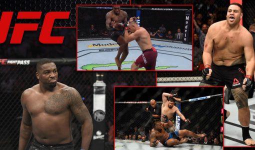 Walt Harris Vs Tai Tuivasa With UFC Logo