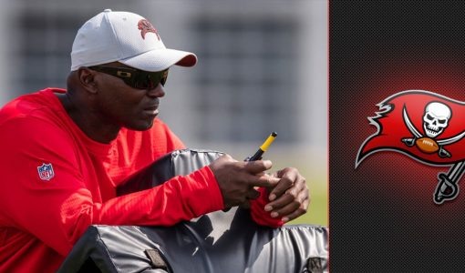 Todd Bowles With Buccaneers Background