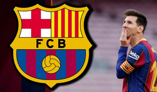 Messi With Barcelona Background