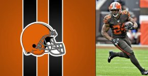 Nick Chubb With- Browns Background