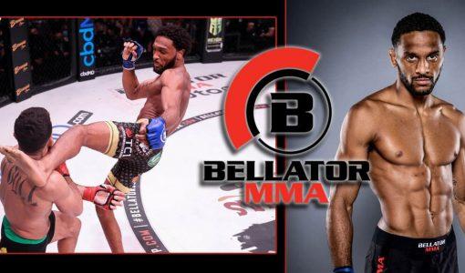 AJ McKee With Bellator Background