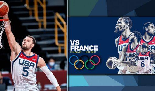 Team USA Vs France Basketball Olympics